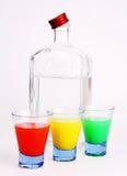 Fles en glas met alcohol. Royalty-vrije Stock Foto