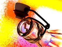 Fles en Hoogste Samenvatting Stock Foto's