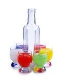 Fles en kleurenkop Stock Foto