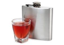 Fles en whisky royalty-vrije stock foto's