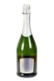 Fles geïsoleerde champagne Royalty-vrije Stock Afbeelding