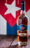 Fles Havana Club-rum royalty-vrije stock afbeeldingen