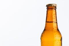 Fles koud bier Royalty-vrije Stock Afbeeldingen