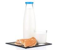 Fles Melk Stock Afbeeldingen