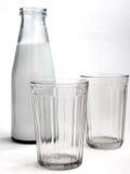 Fles Melk Stock Fotografie