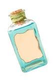 Fles met blauwe vloeistof Royalty-vrije Stock Foto's