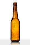 Fles met Condensatie op Wit Stock Afbeeldingen
