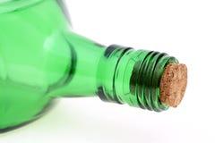 Fles met cork kurk Stock Foto's