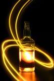 Fles met licht die 3 schilderen royalty-vrije stock afbeelding