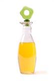 Fles met olie Royalty-vrije Stock Foto's