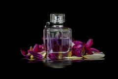 Fles met parfum Royalty-vrije Stock Foto