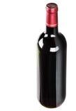 Fles met rode wijn Royalty-vrije Stock Foto