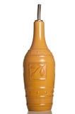 Fles met spuiten voor olijfolie Stock Foto