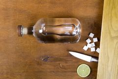 Fles met sterke alcohol Royalty-vrije Stock Fotografie