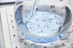Fles met water Stock Foto
