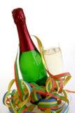 Fles mousserende wijn Stock Afbeeldingen