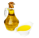 Fles olie stock afbeelding