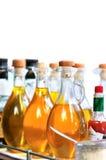 Fles olie Royalty-vrije Stock Foto's