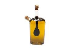 Fles olie en stroop Royalty-vrije Stock Afbeeldingen