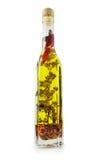 Fles Olijfolie Stock Afbeeldingen