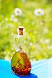 Fles olijfolie Royalty-vrije Stock Foto's