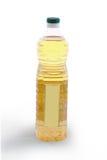 Fles plantaardige olie - achtergedeelte Stock Afbeeldingen