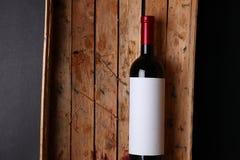 Fles rode wijn Stock Foto's