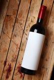 Fles rode wijn Royalty-vrije Stock Afbeeldingen