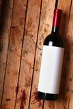 Fles rode wijn Royalty-vrije Stock Foto's