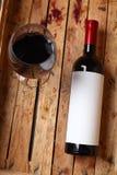 Fles rode wijn Royalty-vrije Stock Foto