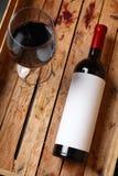 Fles rode wijn Stock Fotografie