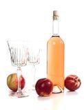 Fles roze wijn Stock Afbeeldingen