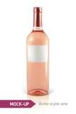 Fles roze wijn Stock Fotografie