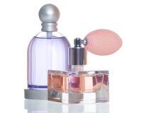 Fles twee parfum Royalty-vrije Stock Foto's