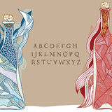 Fles van magische wijnstok vector illustratie