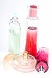 Fles van parfum Royalty-vrije Stock Foto's