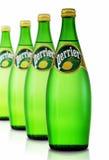 Fles van Perrier-Citroen - Fonkelend Natuurlijk Mineraalwater Royalty-vrije Stock Foto
