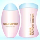 Fles van Shampoo of Haarveredelingsmiddel Stock Foto