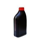 Fles van smeermiddel voor geïsoleerde auto stock afbeeldingen