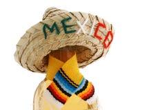 Fles van sterke drank de hoed met van stro ?Mexico?. stock foto