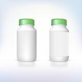 Fles voor dieetsupplementen en geneesmiddelen. Royalty-vrije Stock Foto