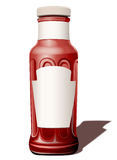 Fles voor een tomatensaus Stock Foto