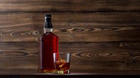 Fles whisky Royalty-vrije Stock Foto
