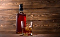 Fles whisky Stock Foto