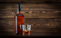 Fles whisky Stock Foto's
