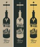 Fles wijn royalty-vrije illustratie