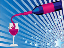 Fles wijn vector illustratie
