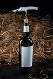 Fles wijn Royalty-vrije Stock Fotografie