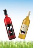 Fles wijnen Stock Foto's
