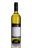 Fles witte wijn royalty-vrije stock foto